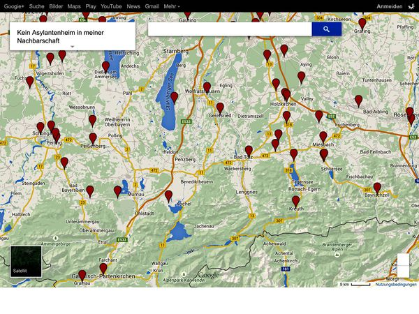 Google Maps Censorship How To Defeat Refugee Housing Map - Germany map google